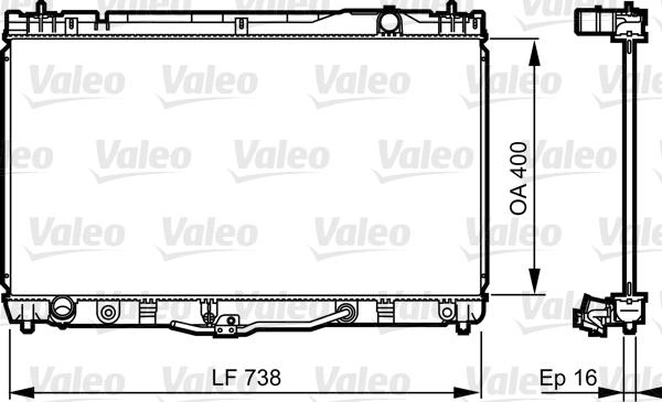 Radiateur de refroidissement VALEO 734492 (X1)