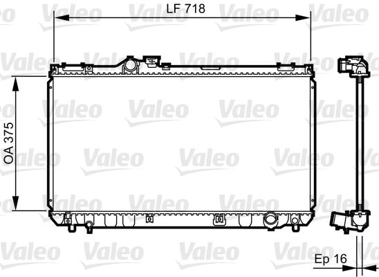 Radiateur de refroidissement VALEO 734498 (X1)