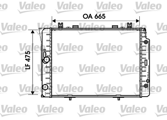 Radiateur de refroidissement VALEO 734631 (X1)