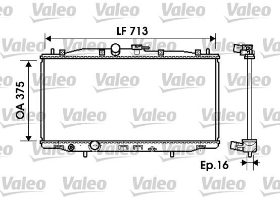 Radiateur de refroidissement VALEO 734703 (X1)