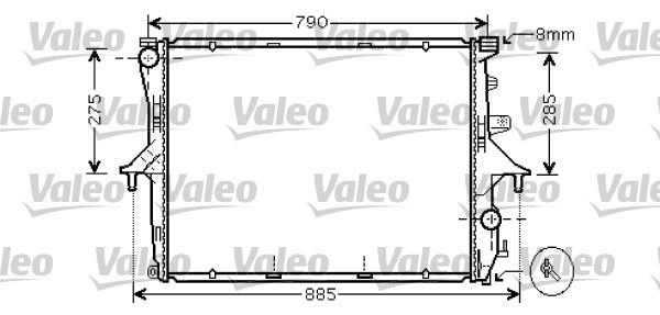 Radiateur de refroidissement VALEO 734741 (X1)