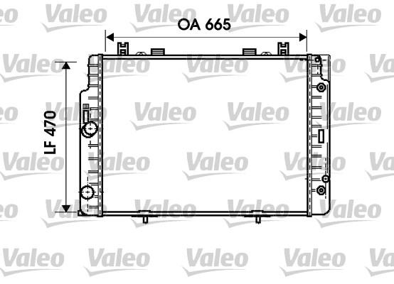 Radiateur de refroidissement VALEO 734793 (X1)