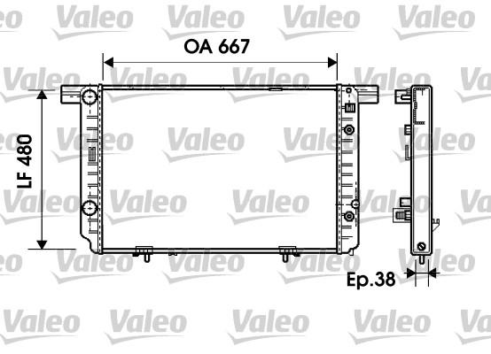Radiateur de refroidissement VALEO 734799 (X1)