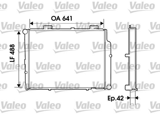 Radiateur de refroidissement VALEO 734803 (X1)
