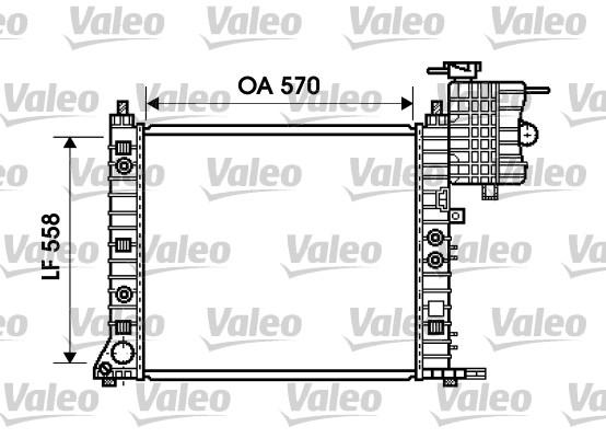 Radiateur de refroidissement VALEO 734806 (X1)