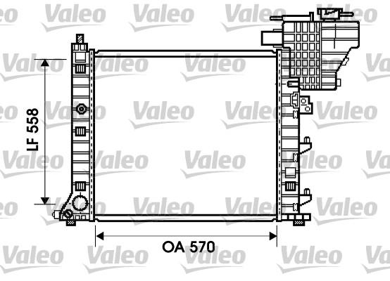 Radiateur de refroidissement VALEO 734807 (X1)