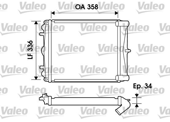 Radiateur de refroidissement VALEO 734826 (X1)