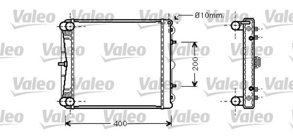 Radiateur de refroidissement VALEO 734827 (X1)