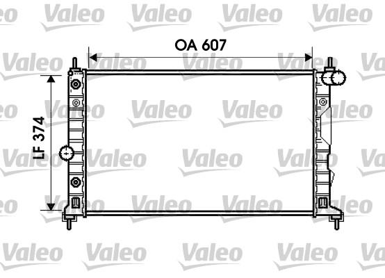 Radiateur de refroidissement VALEO 734831 (X1)