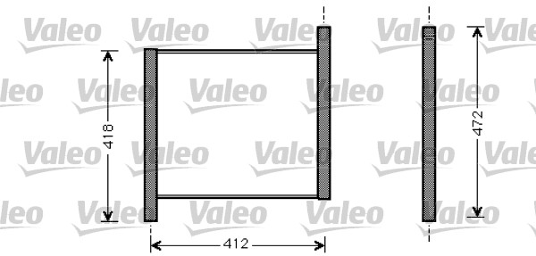 Radiateur de refroidissement VALEO 734848 (X1)