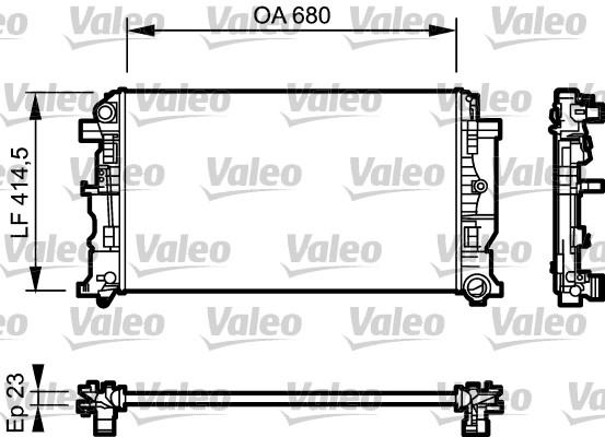 Radiateur de refroidissement VALEO 734926 (X1)