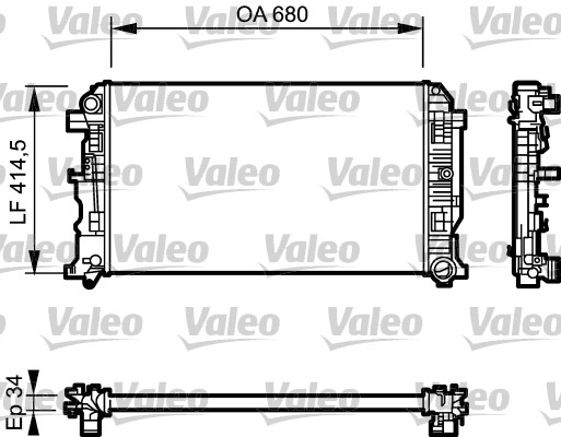 Radiateur de refroidissement VALEO 734928 (X1)