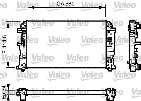 Radiateur de refroidissement VALEO 734929 (X1)