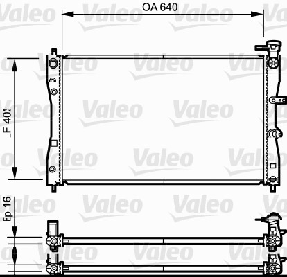 Radiateur de refroidissement VALEO 735055 (X1)
