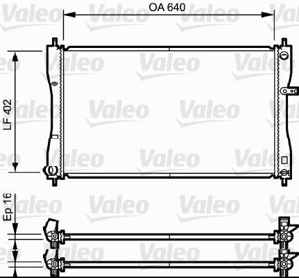Radiateur de refroidissement VALEO 735056 (X1)