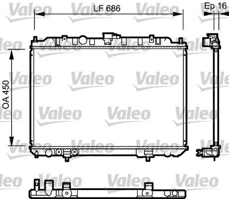 Radiateur de refroidissement VALEO 735064 (X1)