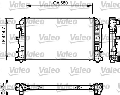 Radiateur de refroidissement VALEO 735089 (X1)