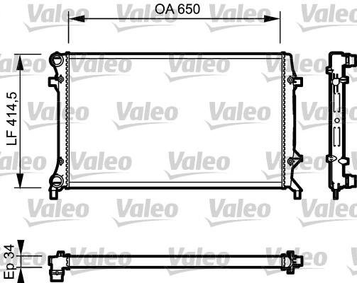 Radiateur de refroidissement VALEO 735120 (X1)