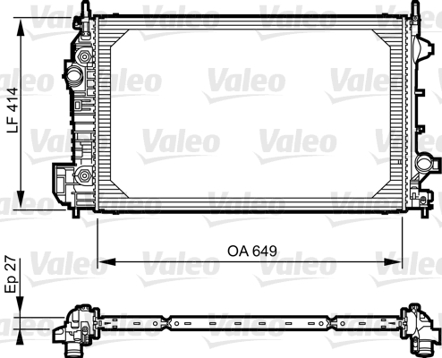 Radiateur de refroidissement VALEO 735130 (X1)