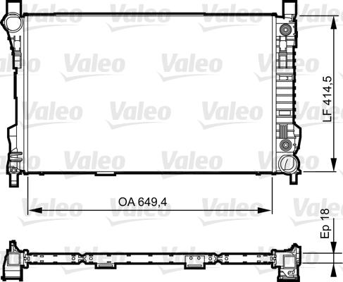 Radiateur de refroidissement VALEO 735144 (X1)