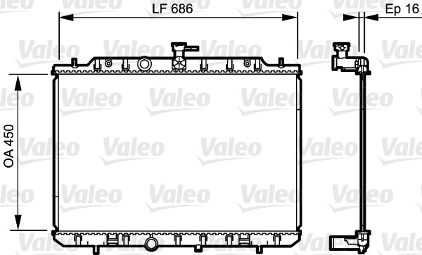 Radiateur de refroidissement VALEO 735205 (X1)