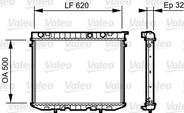 Radiateur de refroidissement VALEO 735229 (X1)