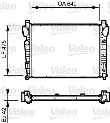 Radiateur de refroidissement VALEO 735230 (X1)