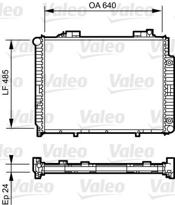 Radiateur de refroidissement VALEO 735231 (X1)