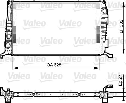 Radiateur de refroidissement VALEO 735279 (X1)