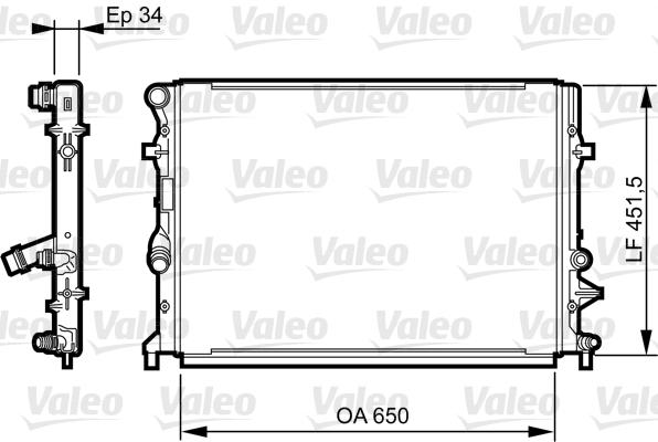Radiateur de refroidissement VALEO 735280 (X1)