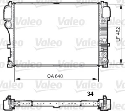 Radiateur de refroidissement VALEO 735298 (X1)