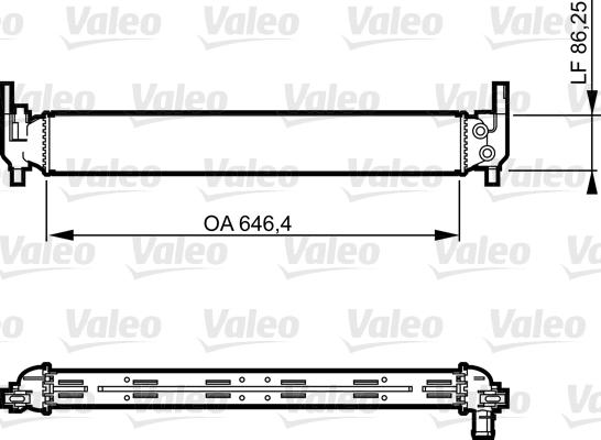 Radiateur de refroidissement VALEO 735310 (X1)