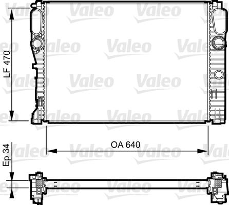 Radiateur de refroidissement VALEO 735382 (X1)