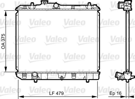 Radiateur de refroidissement VALEO 735383 (X1)