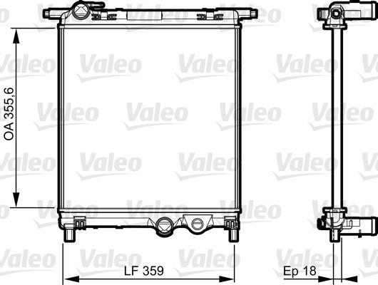 Radiateur de refroidissement VALEO 735469 (X1)