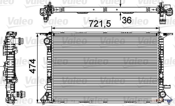 Radiateur de refroidissement VALEO 735474 (X1)