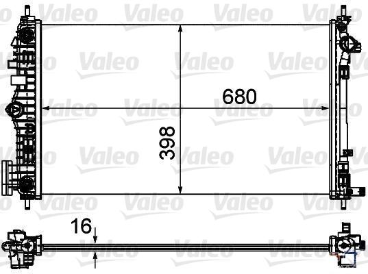 Radiateur de refroidissement VALEO 735484 (X1)