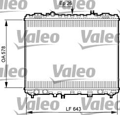 Radiateur de refroidissement VALEO 735506 (X1)
