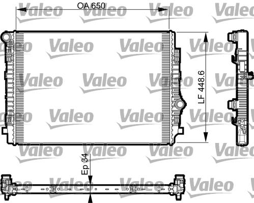Radiateur de refroidissement VALEO 735549 (X1)