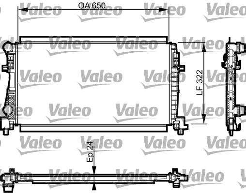 Radiateur de refroidissement VALEO 735557 (X1)