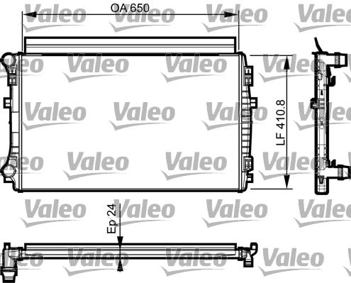 Radiateur de refroidissement VALEO 735558 (X1)