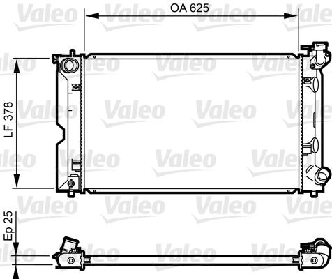 Radiateur de refroidissement VALEO 735567 (X1)