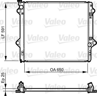 Radiateur de refroidissement VALEO 735568 (X1)