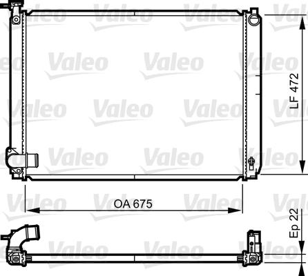 Radiateur de refroidissement VALEO 735571 (X1)