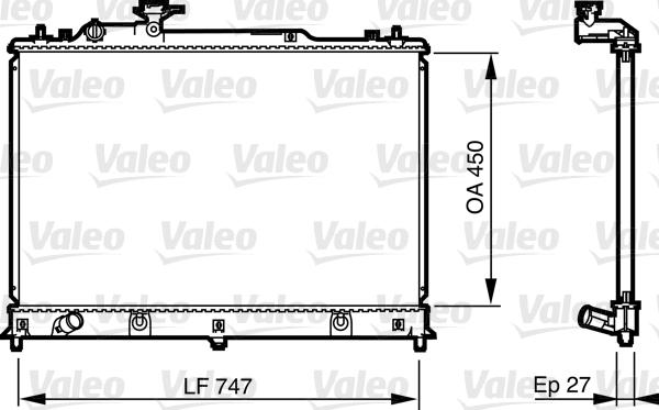Radiateur de refroidissement VALEO 735577 (X1)