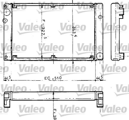 Radiateur de refroidissement VALEO 810952 (X1)