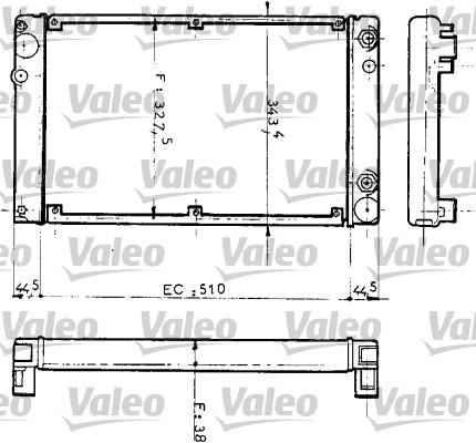 Radiateur de refroidissement VALEO 810953 (X1)