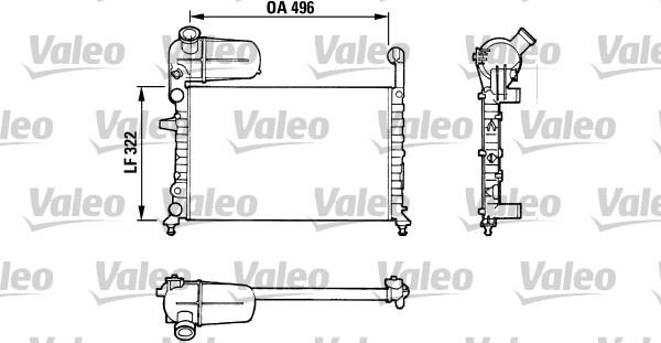 Radiateur de refroidissement VALEO 811070 (X1)