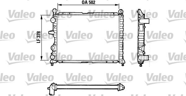 Radiateur de refroidissement VALEO 811071 (X1)