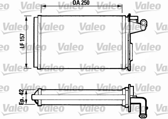 Radiateur de chauffage VALEO 811075 (X1)